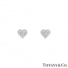 Tiffany & Co. Platinum Hearts Diamond Earrings